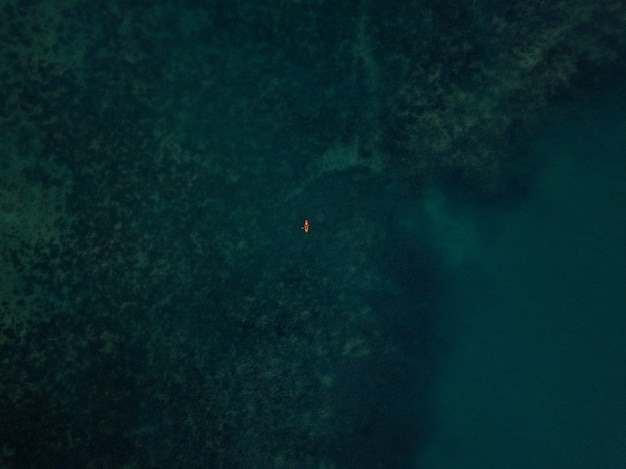 Aerial shot // boat on the sea