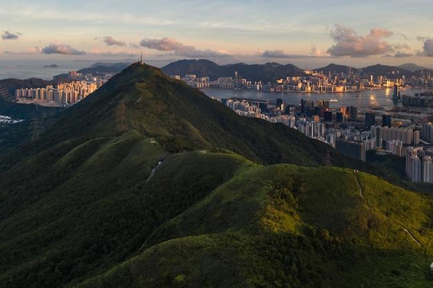 香港からの空中ショット