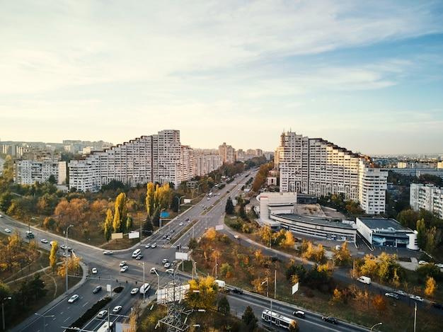 Aerial shot of gates of chisinau