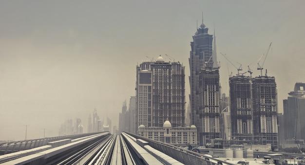 Ripresa aerea di grattacieli