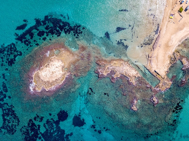 Aerial shot of a sea