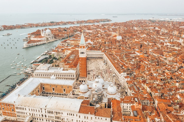 Aerial shot of venice in italy, a beautiful cityscape