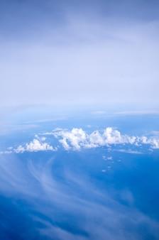공중 하늘과 구름 배경