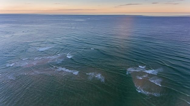 Aerial. tide in the waters of ria formosa portugal.