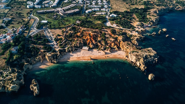 Aerial view of the algarve