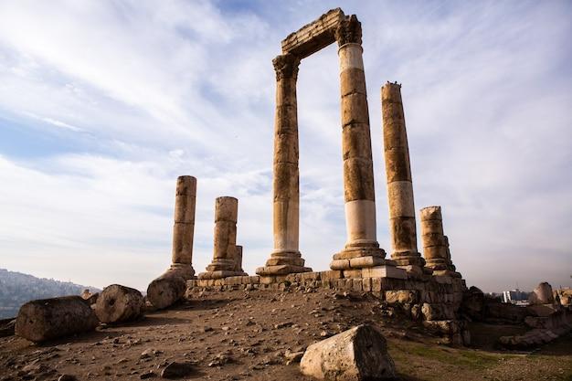 Aerial view of amman city the capital of jordan