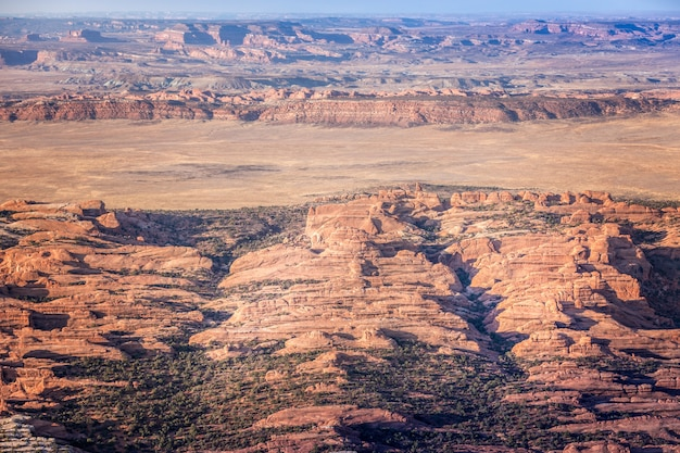 Aerial view on the the arches national park,  utah