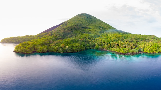 Aerial view banda islands moluccas archipelago indonesia