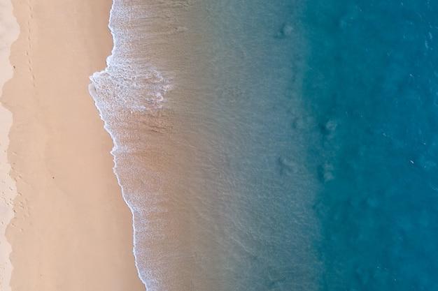 Aerial view beach topdown view