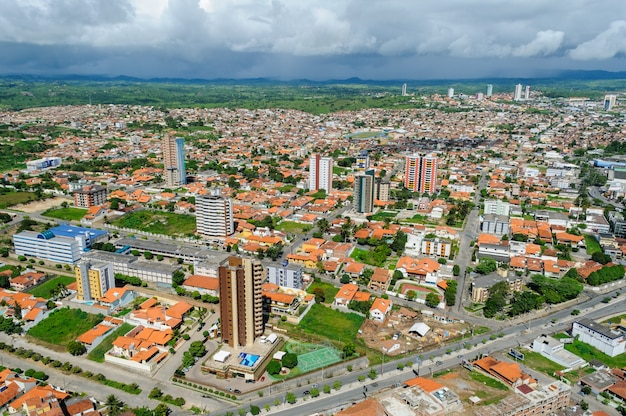 Aerial view of the city of campina grande, paraiba, brazil on may 30, 2009.