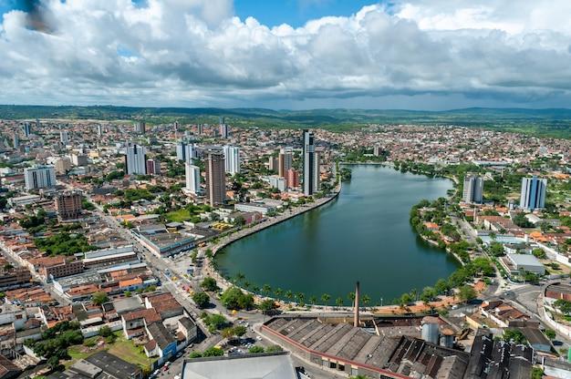 Aerial view of the city of campina grande paraiba brazil