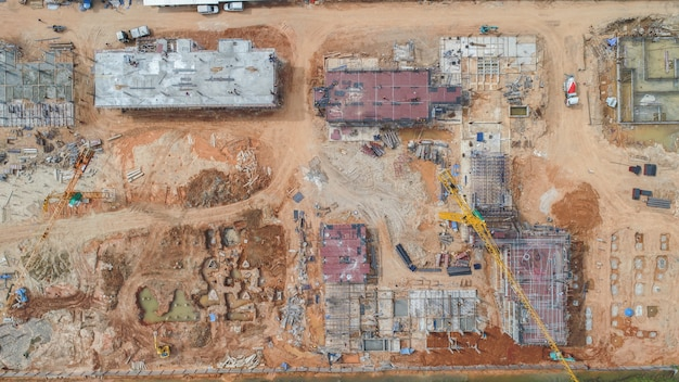 Aerial view construction