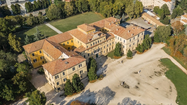 Aerial view of ducal palace in parma