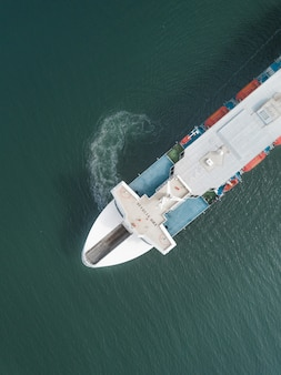 Aerial view of a ferry