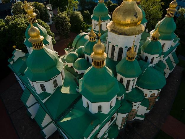 Аэрофотоснимок с дрона собор святой софии в киеве