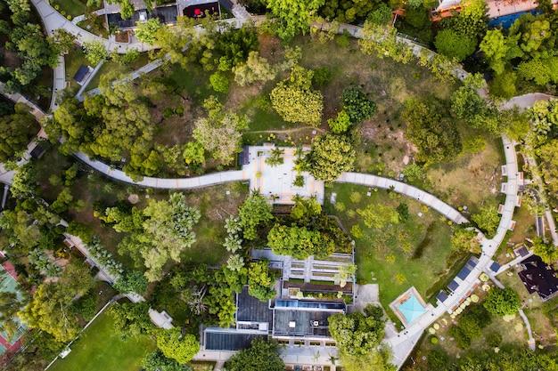 Вид с воздуха из гонконга