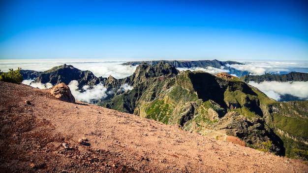 Вид с воздуха с пико руиво