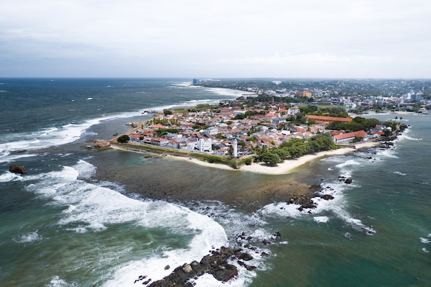 Aerial view of galle city, sri lanka