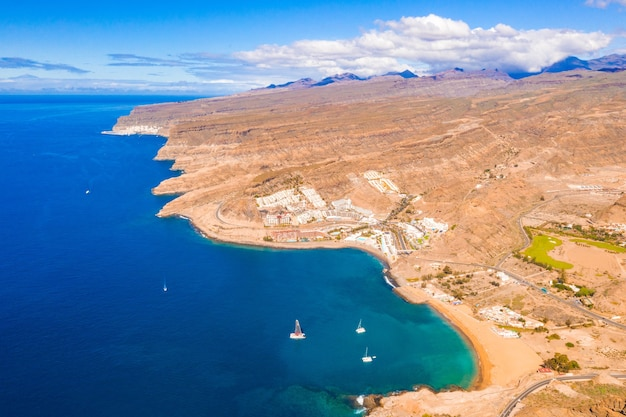 Aerial view of gran canaria island, spain