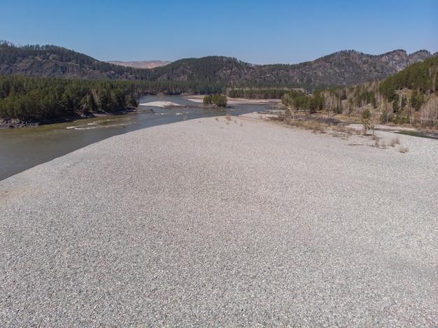 Aerial view of katun river