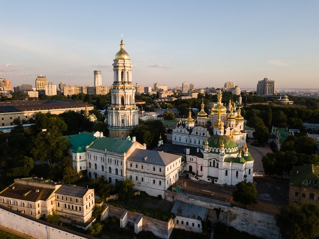 Aerial view of kiev pechersk lavra, ukraine