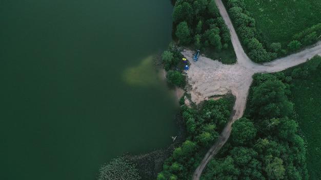 Veduta aerea del lago