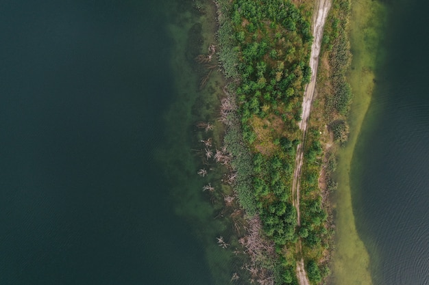 Vista aerea del lago