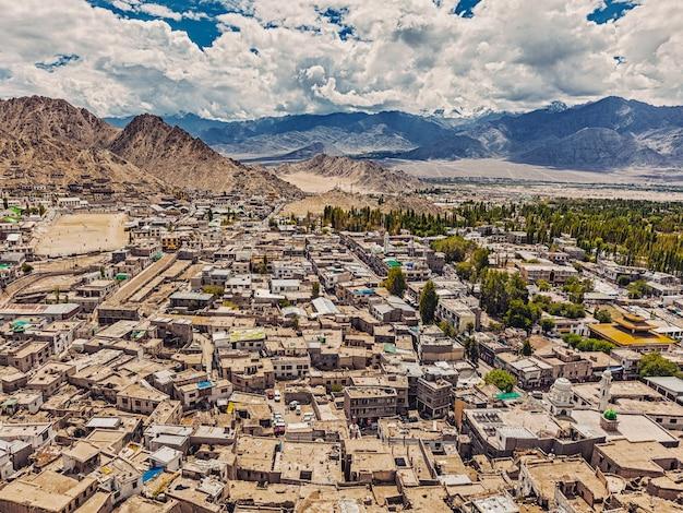 Aerial view of leh