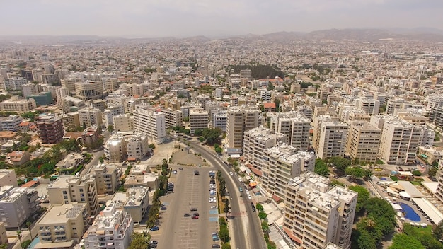 Aerial view of limassol city in cyprus