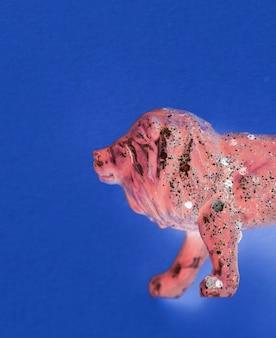Veduta aerea del leone con effetti