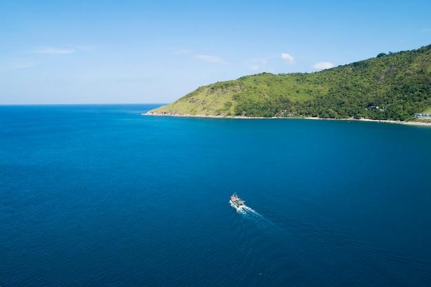 航空写真、自然、風景、海景、ドローン、海、プーケット島、アジア、タイ