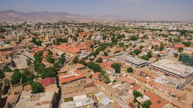Aerial view of nicosia, northern part