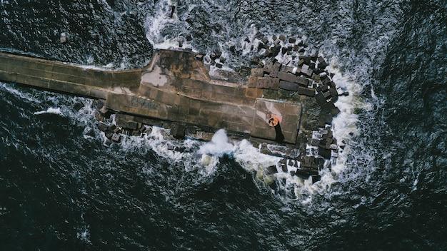 桟橋の航空写真