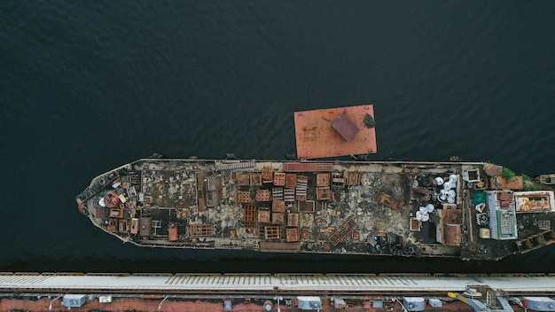 Аэрофотоснимок корабля