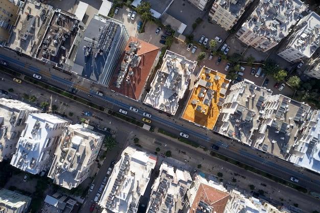 アンタルヤ市内中心部の航空写真。