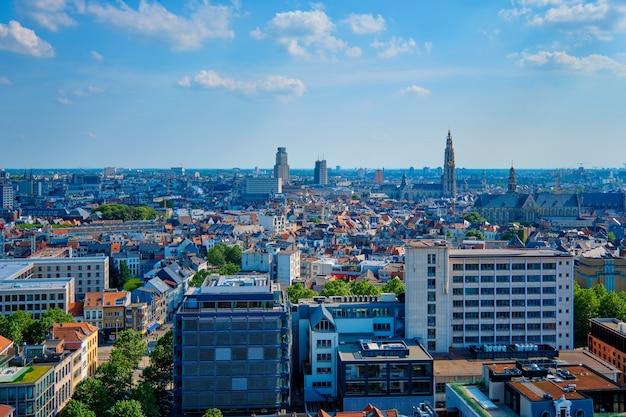 Вид с воздуха на антверпен