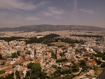 アテネギリシャの航空写真