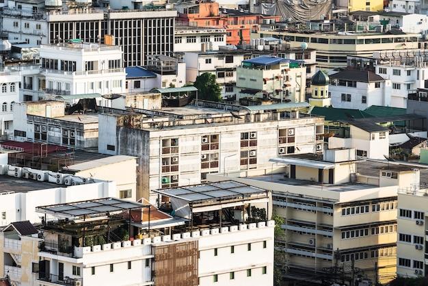 Вид с воздуха на здания