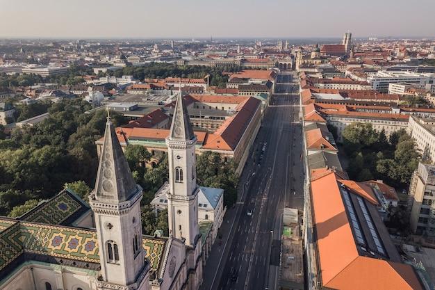 ミュンヘン市内中心部の航空写真