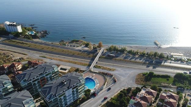 Аэрофотосъемка города на море