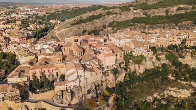 スペインの美しい場所、クエンカの空撮