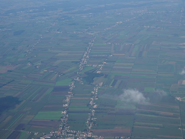 Вид с воздуха на немецкий пейзаж