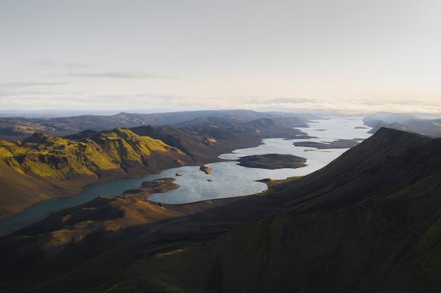 아이슬란드에서 하이랜드의 항공 보기