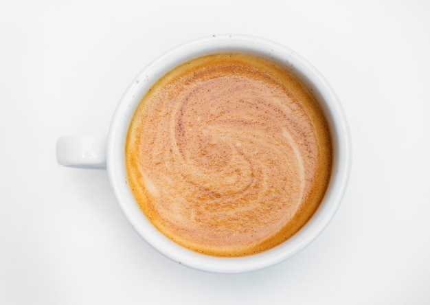 ホットコーヒーの空撮