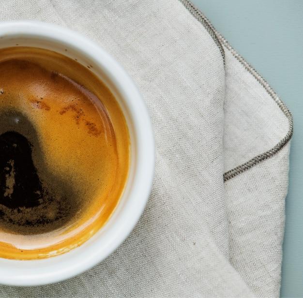 ホットコーヒーの航空写真