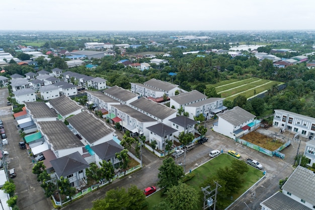 タイの住宅の航空写真