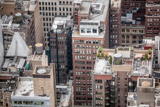 マンハッタンの屋根の空撮