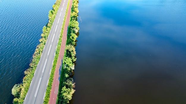 高速道路、オランダの航空写真