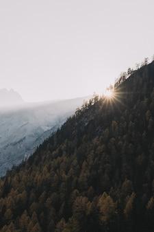Аэрофотоснимок горы