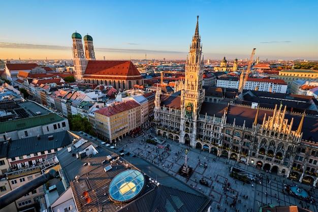 Вид с воздуха на мюнхен, германия